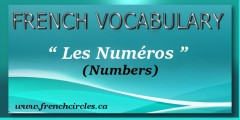 French Vocabulary Les numéros Numbers