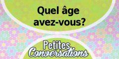 Quel âge avez-vous?