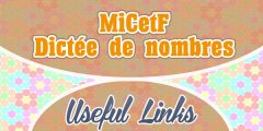 Dictée de nombres – MiCetF