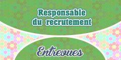 Entrevue pour la profession de responsable du recrutement