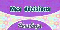 Mes décisions
