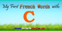 My First French Words with C