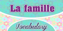 French Vocabulary La Famille Family