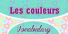 French Vocabulary Les Couleurs Colors