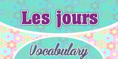 Les Jours Days of the week