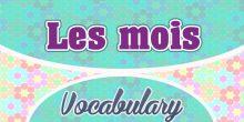 Les Mois The months