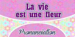 La vie est une fleur