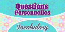 Questions Personnelles