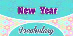 French New Year Vocabulary