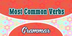 Most Common French Verbs  (Part 1)