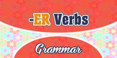 Sentences with ER verbs