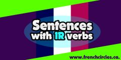 Sentences with IR verbs