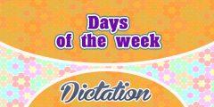 Days of the week (Sentences)