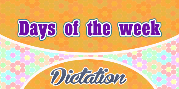 Days of the week (sentences)