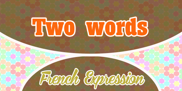 Two Words French Expressions
