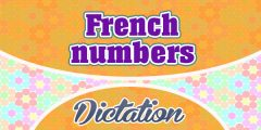 French numbers dictation practice