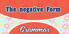 The Negative Form