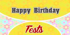 Happy Birthday French Test
