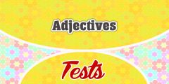 Adjectives French test