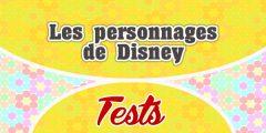 Les personnages de Disney – Test