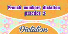 French numbers dictation practice 2