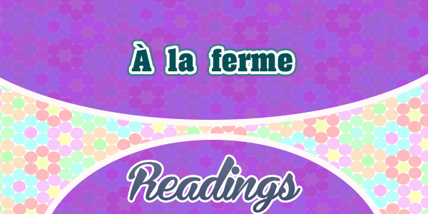 À la ferme-Frenchcircles-readings